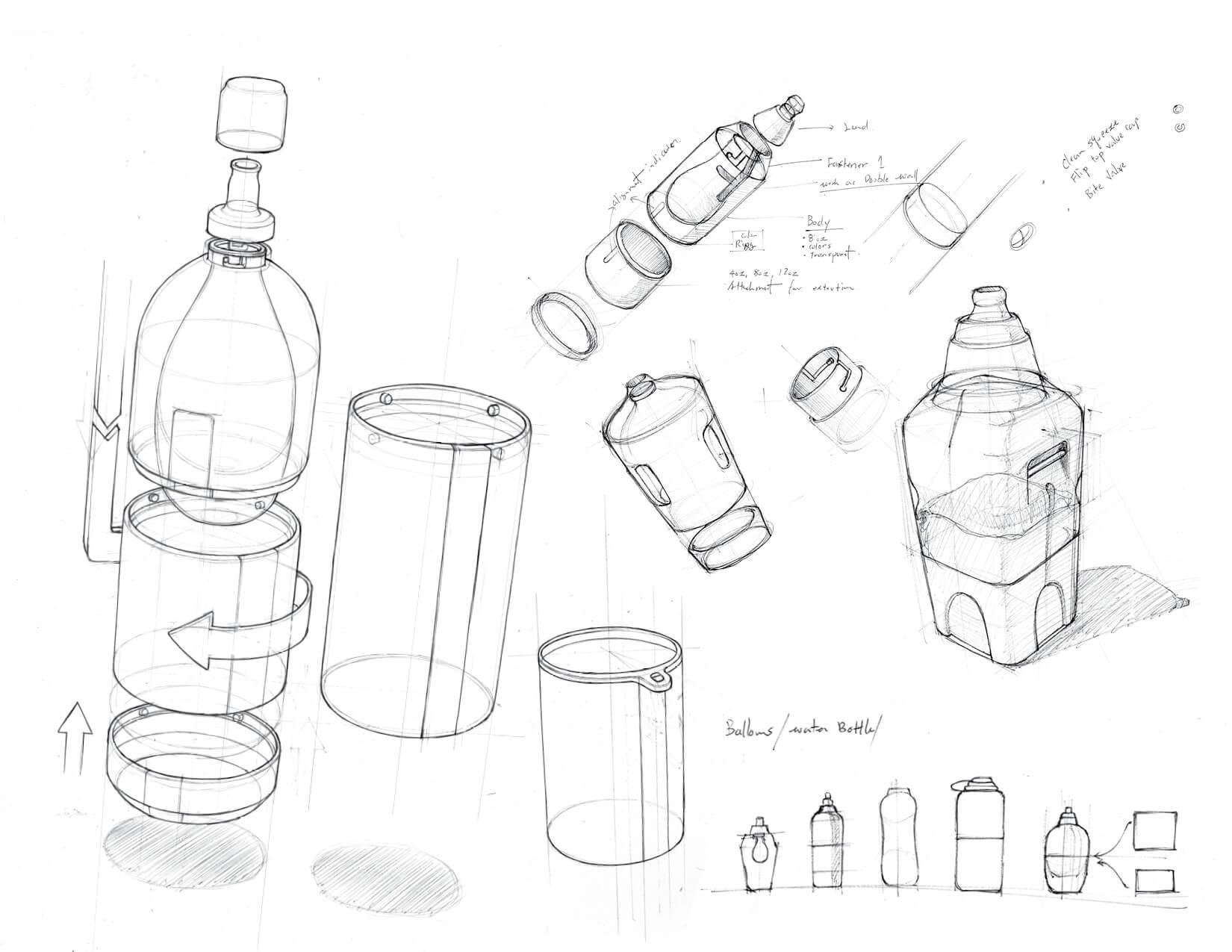 WaterBottle-Drawings